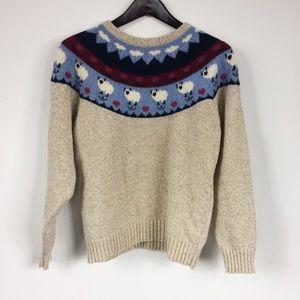 Vintage Sheep Fair Isle Sweater
